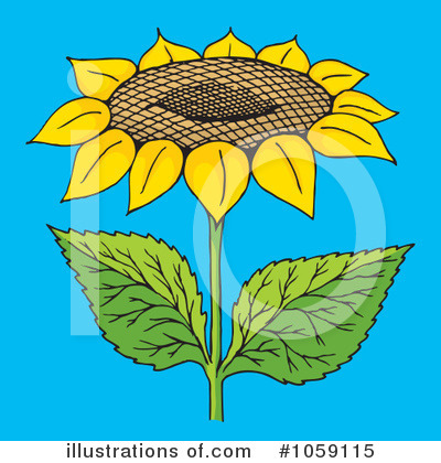 Sunflower Clipart #1059115 - Illustration by Any Vector
