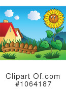 Royalty-Free (RF) Sunflower Clipart Illustration #1064187