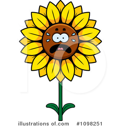 Sunflower Clipart #1098251 by Cory Thoman