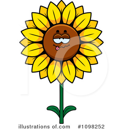 Sunflower Clipart #1098252 by Cory Thoman