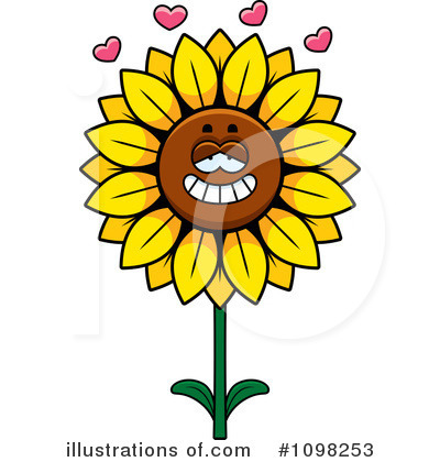 Sunflower Clipart #1098253 by Cory Thoman