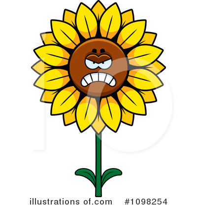 Sunflower Clipart #1098254 by Cory Thoman