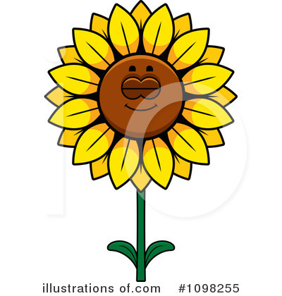 Sunflower Clipart #1098255 by Cory Thoman