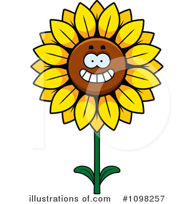 Royalty-Free (RF) Sunflower Clipart Illustration by Cory Thoman - Stock Sample #1098257