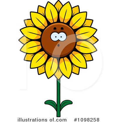 Sunflower Clipart #1098258 by Cory Thoman