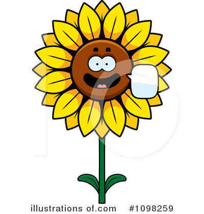 Sunflower Clipart #1098259 by Cory Thoman