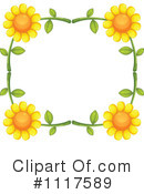 Royalty-Free (RF) Sunflower Clipart Illustration #1117589