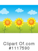 Royalty-Free (RF) Sunflower Clipart Illustration #1117590