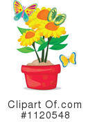 Royalty-Free (RF) Sunflower Clipart Illustration #1120548