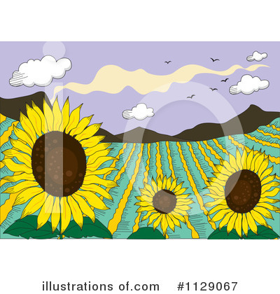 Sunflower Clipart #1129067 by Graphics RF