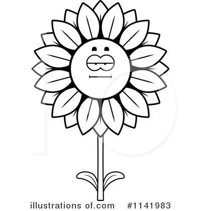 Sunflower Clipart #1141983 by Cory Thoman