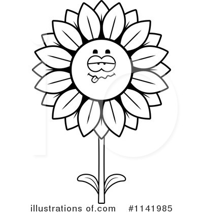 Sunflower Clipart #1141985 by Cory Thoman