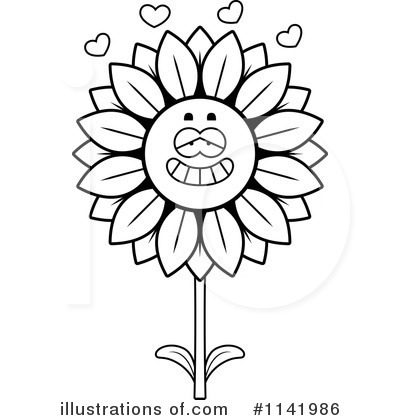 Sunflower Clipart #1141986 by Cory Thoman