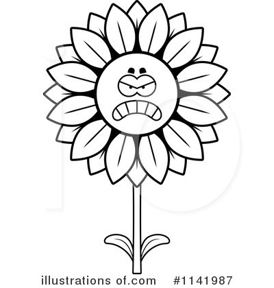 Sunflower Clipart #1141987 by Cory Thoman
