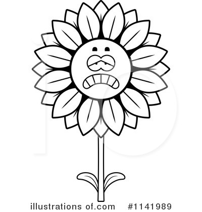 Sunflower Clipart #1141989 by Cory Thoman