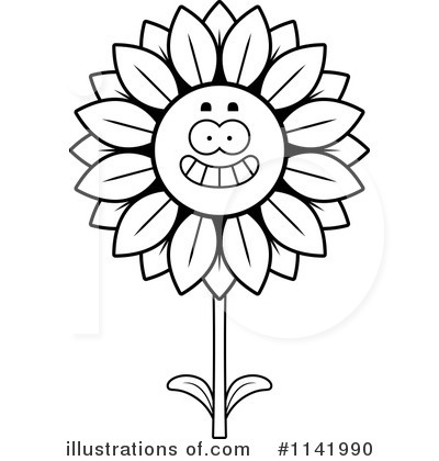 Sunflower Clipart #1141990 by Cory Thoman