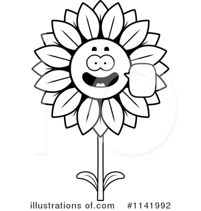 Sunflower Clipart #1141992 by Cory Thoman