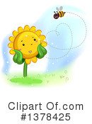 Royalty-Free (RF) Sunflower Clipart Illustration #1378425