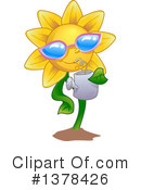 Royalty-Free (RF) Sunflower Clipart Illustration #1378426