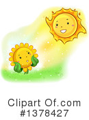 Royalty-Free (RF) Sunflower Clipart Illustration #1378427