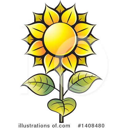 Sunflower Clipart #1408480 by Lal Perera
