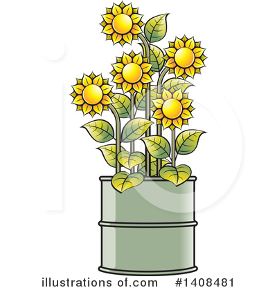 Sunflower Clipart #1408481 by Lal Perera