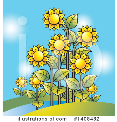 Sunflower Clipart #1408482 by Lal Perera