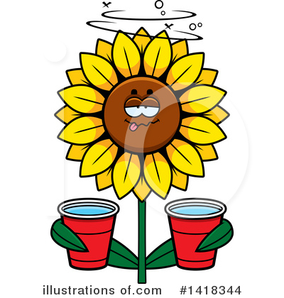 Sunflower Clipart #1418344 by Cory Thoman