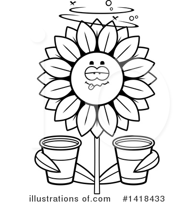 Sunflower Clipart #1418433 by Cory Thoman