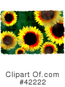 Royalty-Free (RF) Sunflower Clipart Illustration #42222