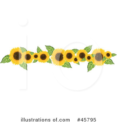 Flower Picture on Sunflowers Clipart  45795 By Pams Clipart   Royalty Free  Rf  Stock