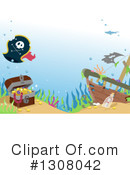 Royalty-Free (RF) Sunken Ship Clipart Illustration #1308042
