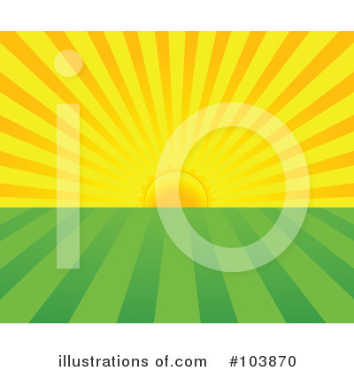 Sunrise Clipart #103870 by Pushkin | Royalty-Free (RF) Stock Illustrations