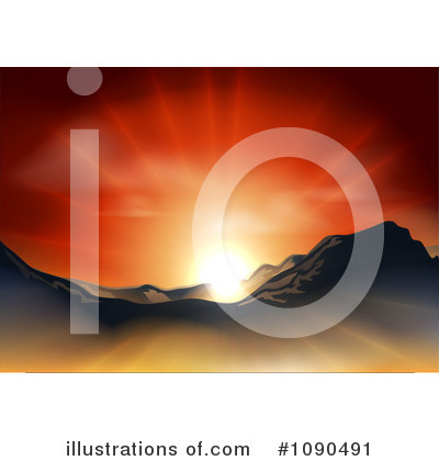Royalty-Free (RF) Sunrise Clipart Illustration by AtStockIllustration - Stock Sample #1090491