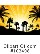 Royalty-Free (RF) Sunset Clipart Illustration #103498