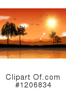 Sunset Clipart #1206834 by KJ Pargeter