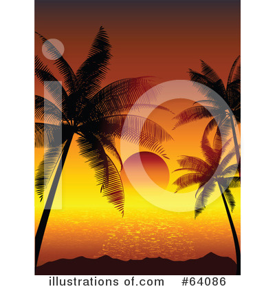 Palm Trees Clipart #64086 by KJ Pargeter