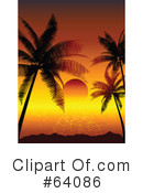 Royalty-Free (RF) Sunset Clipart Illustration #64086
