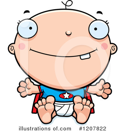 Baby Clipart #1207822 by Cory Thoman