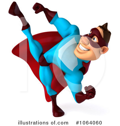 Blue Super Hero Clipart #1064060 by Julos