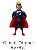 Super Guy Character Clipart #57497 by Julos
