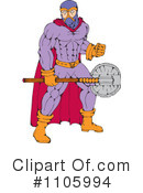 Royalty-Free (RF) super hero Clipart Illustration #1105994