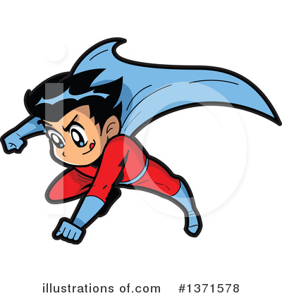 Super Hero Clipart #1371578 by Clip Art Mascots