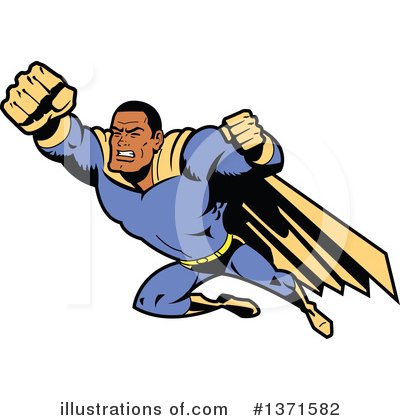 Super Hero Clipart #1371582 by Clip Art Mascots
