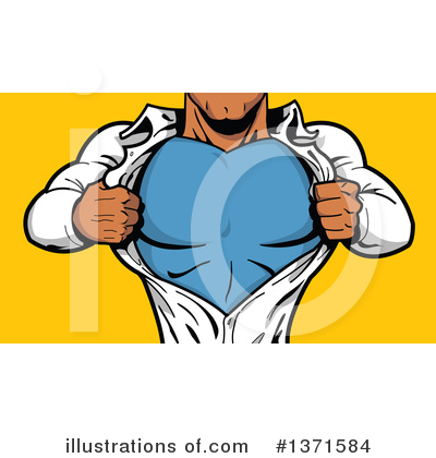 Super Hero Clipart #1371584 by Clip Art Mascots
