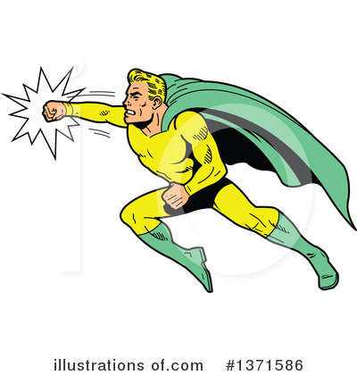 Super Hero Clipart #1371586 by Clip Art Mascots