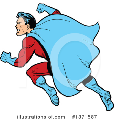 Super Hero Clipart #1371587 by Clip Art Mascots