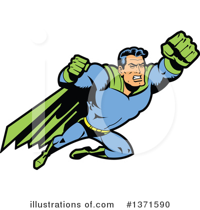 Super Hero Clipart #1371590 by Clip Art Mascots