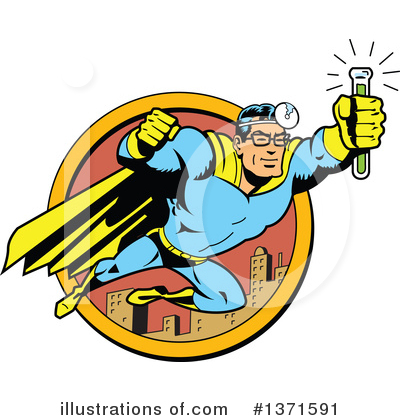 Super Hero Clipart #1371591 by Clip Art Mascots