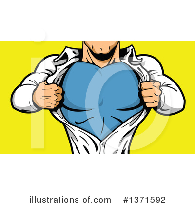 Royalty-Free (RF) Super Hero Clipart Illustration by Clip Art Mascots - Stock Sample #1371592